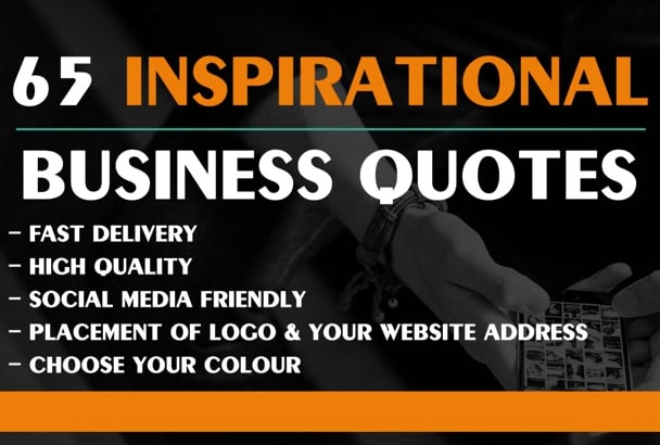 Design 65 Hq Stylish Business Quotes With Logo For You By Davemurk