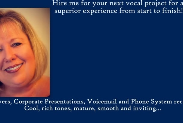 provide clear rich vocals for voicemail and phone systems