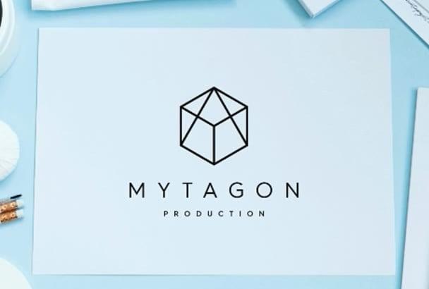 Design Professional Minimalist Geometric Logo