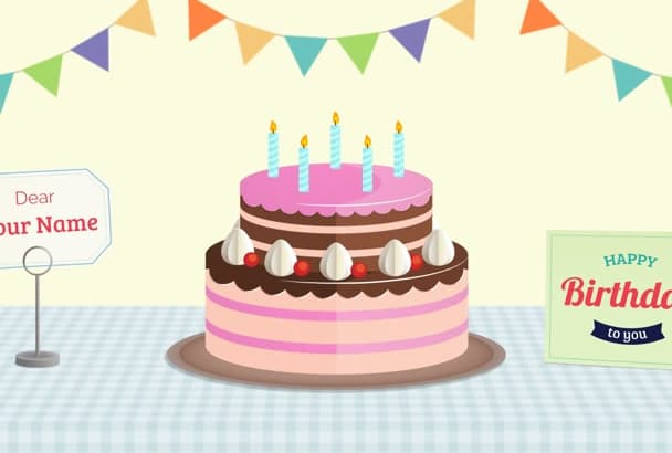 Create Animated Birthday Gift Card For Your Dearest
