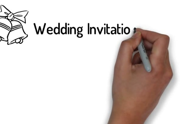 Create whiteboard invitation wedding video by avirahmanita create whiteboard invitation wedding video stopboris Image collections