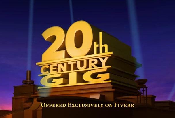 Customize A Fox Movie Intro Replica By Ericrubinoff