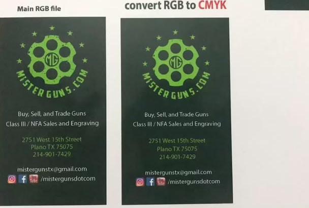 Add Bleed Option And Convert The Color Rgb To Cmyk For Final Printing
