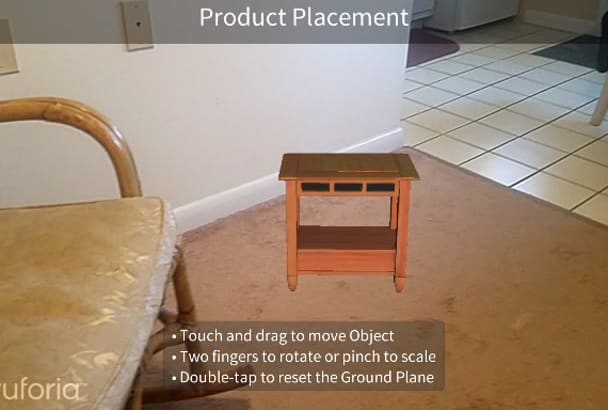 model furniture and create a custom ar app