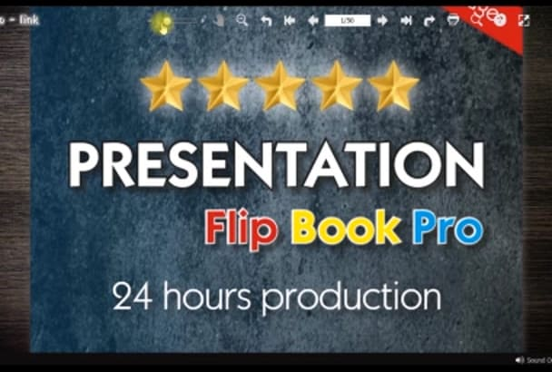 make for you a conversion from a pdf file to a 3d flip book by alexgete