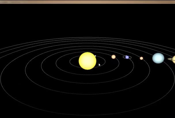 create opengl project for you solar system room design