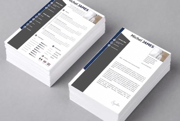 rewrite and design a resume, cv, cover letter and linkedin
