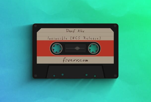 make a cassette audio spectrum visualization for your music