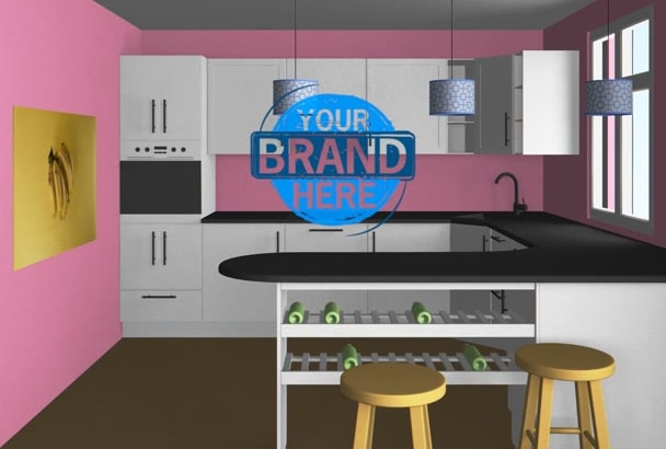 Create Interior Design Intro Kitchen Video With Your Logo By