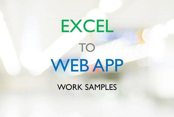 convert excel calculator into web app