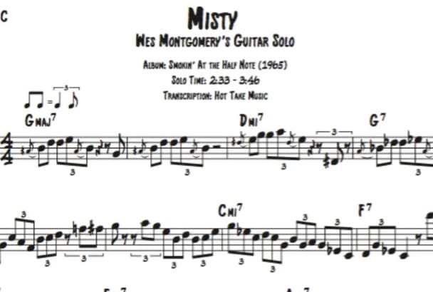 transcribe any jazz solo