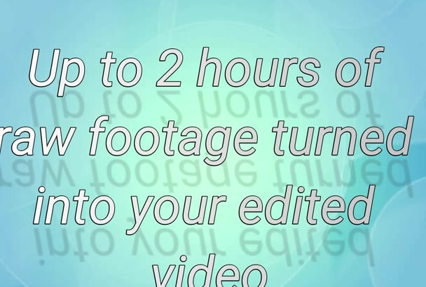 video editing for a cheap price
