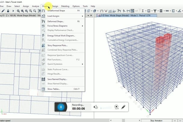 design, a structure using etabs excel according to codes