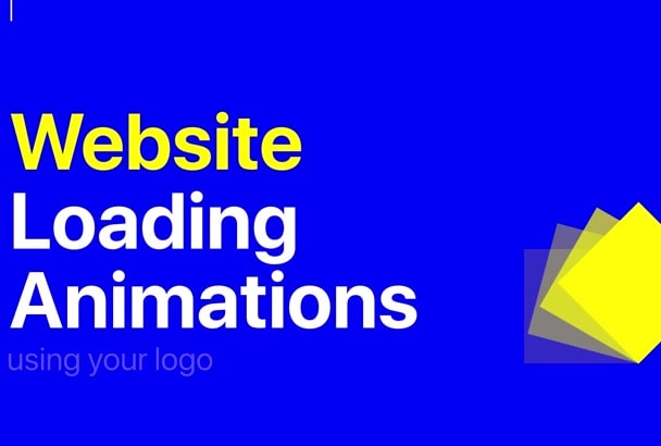 create a loading logo animation for your website