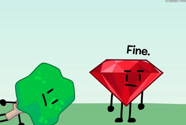 make an animation in a bfdi or bfb style