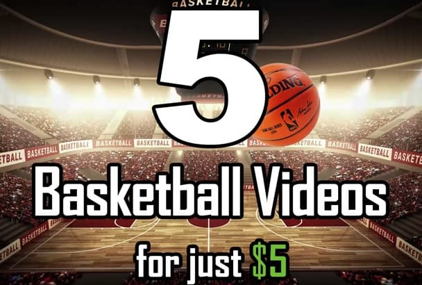 make all 5 basketball logo intro video