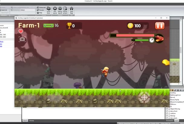 build a game 2d on construct 2