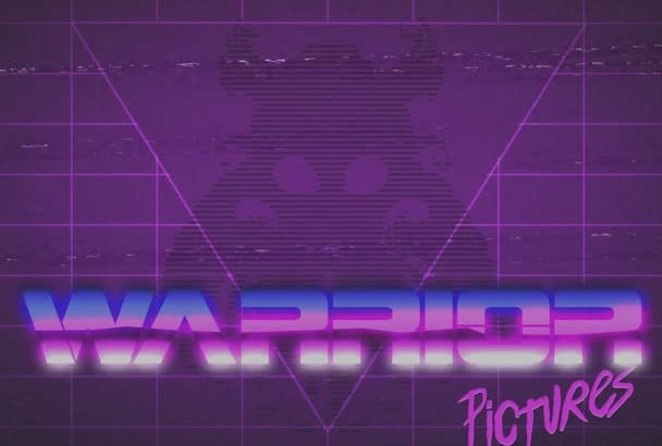 create an 80s retro intro title for your film or video
