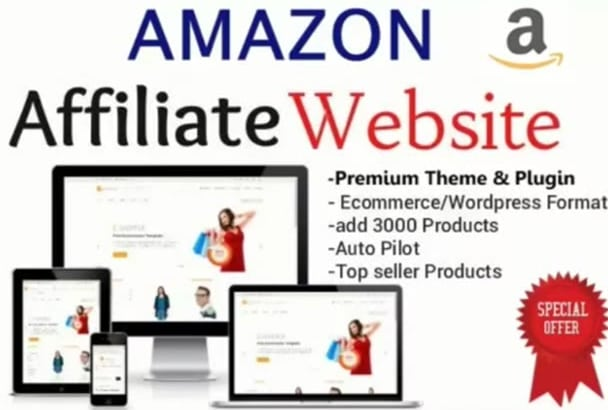 amazon affiliate website | Fiverr