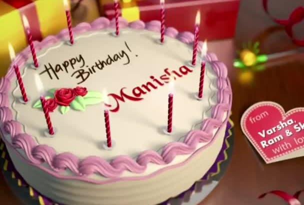 Create Animated Happy Birthday Video With Cake Photos