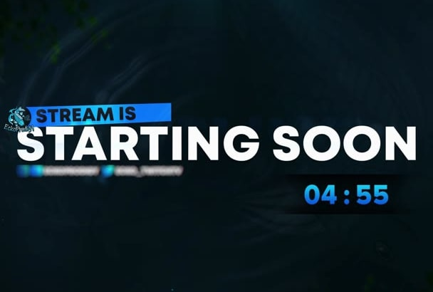 Create An Animated Stream Starting Soon Screen For Twitch