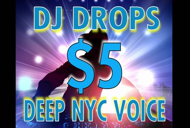 record dj drops deep male voice