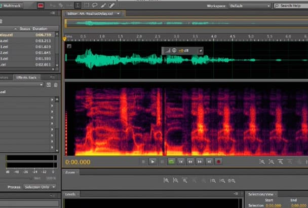 do audio editing, mastering, remove hiss, clicks, pops free sample