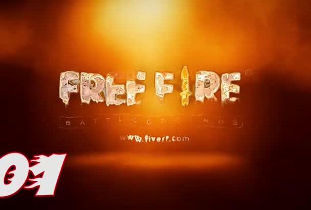create amazing fire logo intro