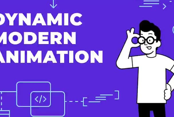 create dynamic modern explainer animation