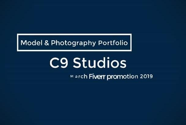 build a modelling portfolio website