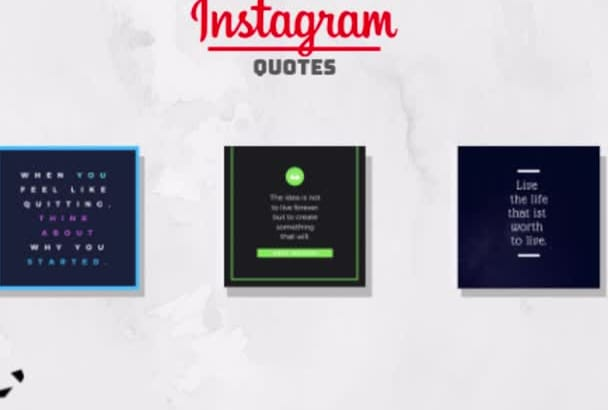 design german or english instagram quote graphics