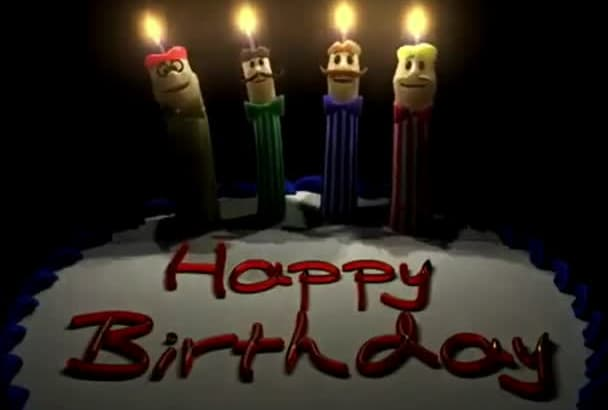 create attractive happy birthday videos and birthday song