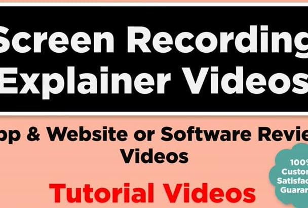 record HD instructional screencast tutorial explainer video