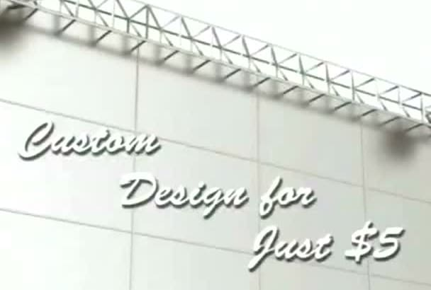 design a banner or logo or  any graphics design
