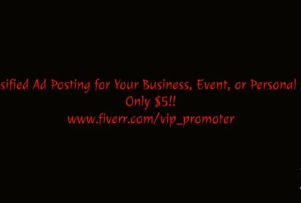 post Online Classified Ads for Your Business, Event, or Personal Ad