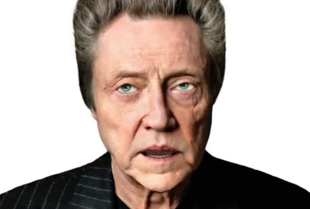 make a Christopher Walken VIDEO eCard Message