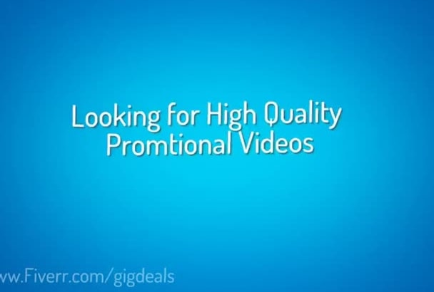 create 2 Commercial Promo HD videos