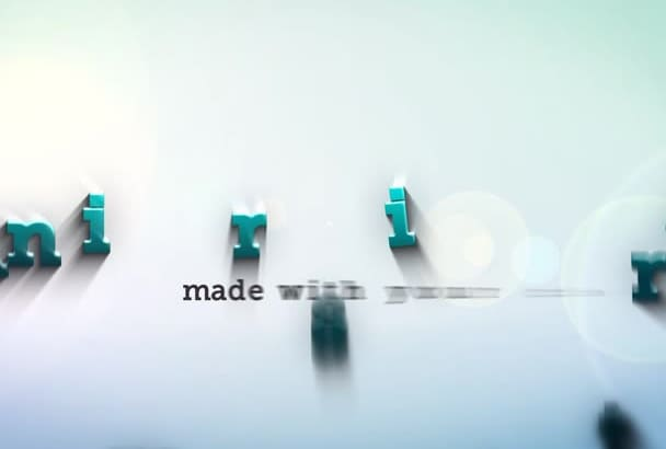create a clean, animated, elegant HD logo intro with your information