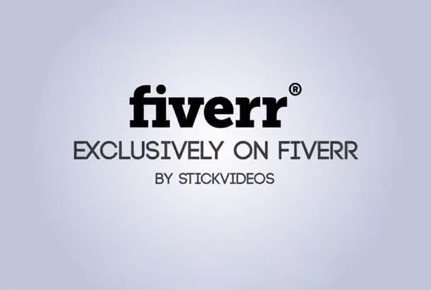 minimal Typography Explainer Video