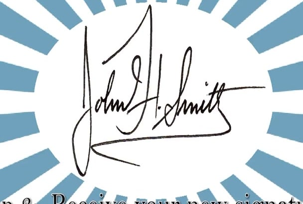 design a professional hand written signature