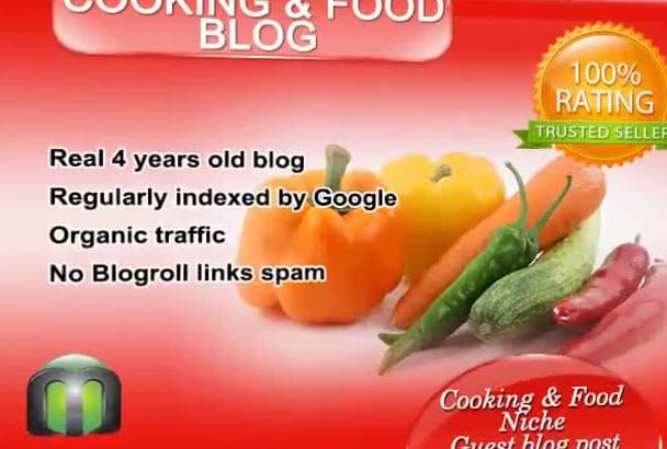 write and guest post on my recipes, food cooking blog