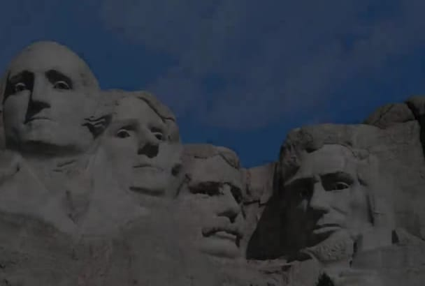 make Mt Rushmore heads sing Happy Birthday