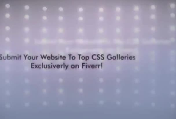 submit your website to Top 40 CSS Galleries