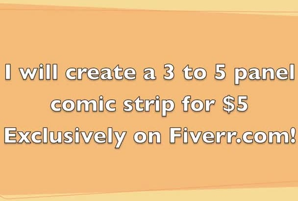 create a comic strip using your idea