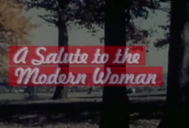 customize and brand this retro fifties salute to women video to advertise and promote your business, service or site