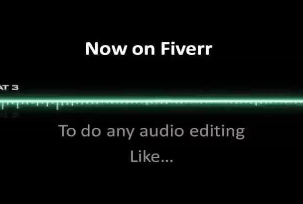professionally do any type of  AUDIO editing