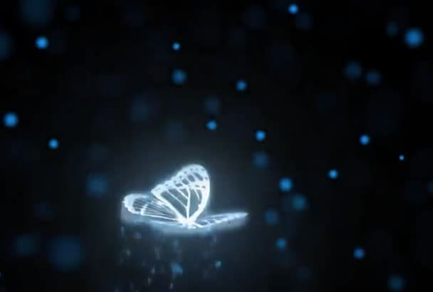 insert your twitter promotional text lines in this FLY sky butterfly intro video