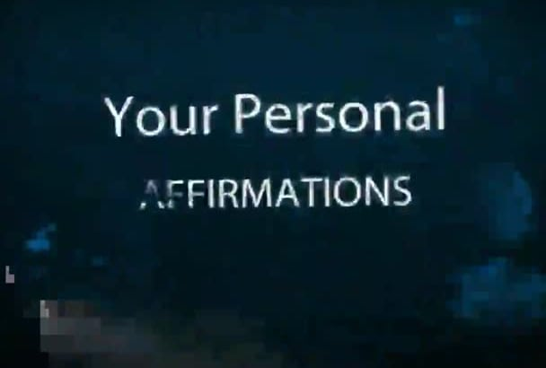 record your AFFIRMATIONS with my soothing, meditative voice