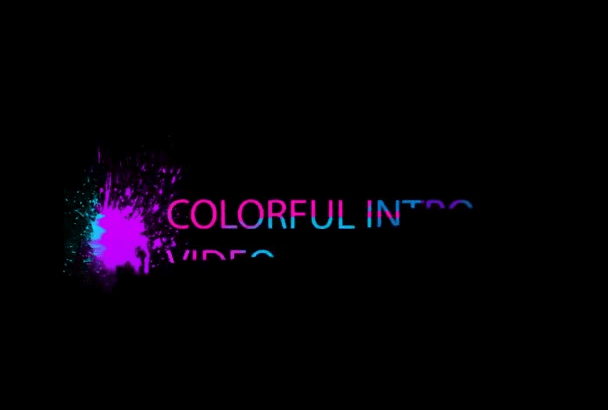 create you this Amazing COLORFUL and Creative video intro
