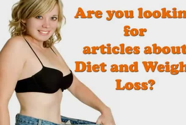 write 500 words article on diet and weight loss